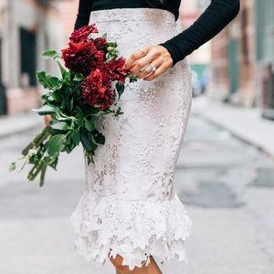 Rachel Parcell Midtown Lace Skirt